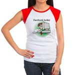 Facebook Junkie 1 Women's Cap Sleeve T-Shirt