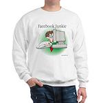Facebook Junkie 1 Sweatshirt