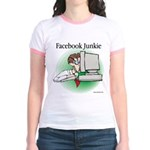 Facebook Junkie 1 Jr. Ringer T-Shirt