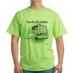 Facebook Junkie 1 Green T-Shirt