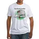 Facebook Junkie 1 Fitted T-Shirt