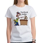 Facebook Junkie 2 Women's T-Shirt