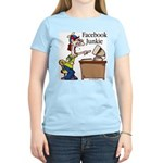 Facebook Junkie 2 Women's Light T-Shirt