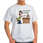 Facebook Junkie 2 Light T-Shirt