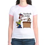 Facebook Junkie 2 Jr. Ringer T-Shirt