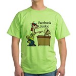 Facebook Junkie 2 Green T-Shirt