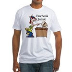 Facebook Junkie 2 Fitted T-Shirt