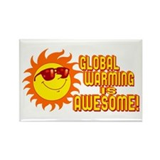 Awesome Global Warming Rectangle Magnet