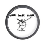 Need. More. Coffee. Wall Clock