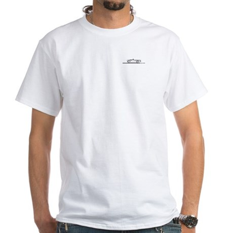 1955 T Bird Convertible BLK White T-Shirt