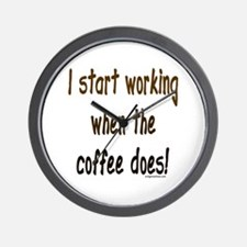 Working when the coffee does Wall Clock