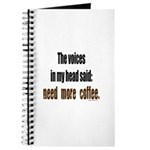 Coffee voices in my head Journal