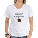 Seen my coffee? Women's V-Neck T-Shirt