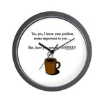 Seen my coffee? Wall Clock