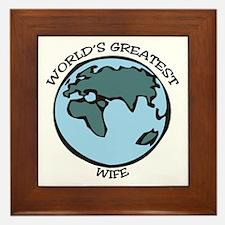 Greatest Wife Framed Tile