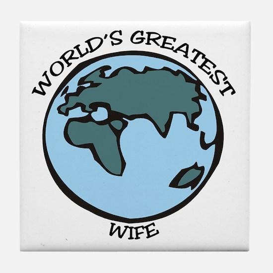 Greatest Wife Tile Coaster