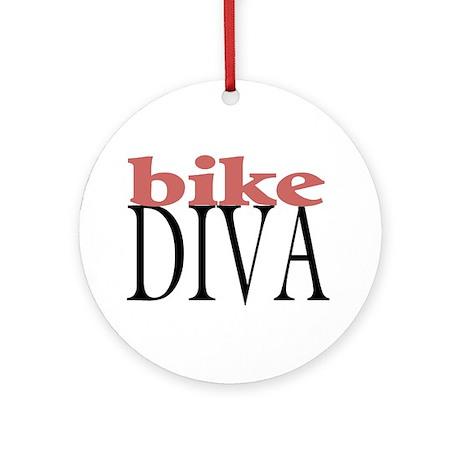 Bike Diva Ornament (Round)