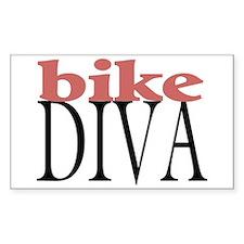 Bike Diva Rectangle Decal