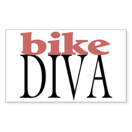 Bike Diva Rectangle Sticker