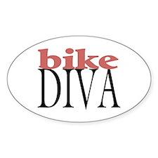 Bike Diva Oval Decal