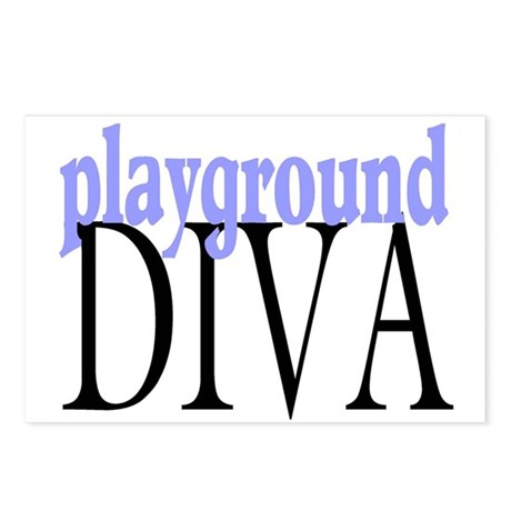 Playground Diva Postcards (Package of 8)
