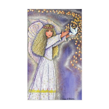 Wishing Angel Rectangle Sticker