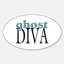 Ghost Diva Oval Decal