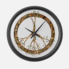 Peace Tree Large Wall Clock