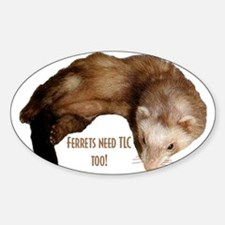 Ferrets Oval Decal