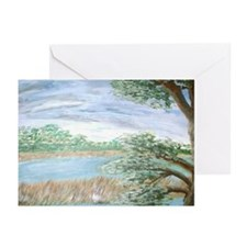 """View from a Florida Hammock Greeting Cards (Packa"