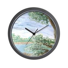 """View from a Florida Hammock Wall Clock"