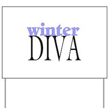 Winter Diva Yard Sign