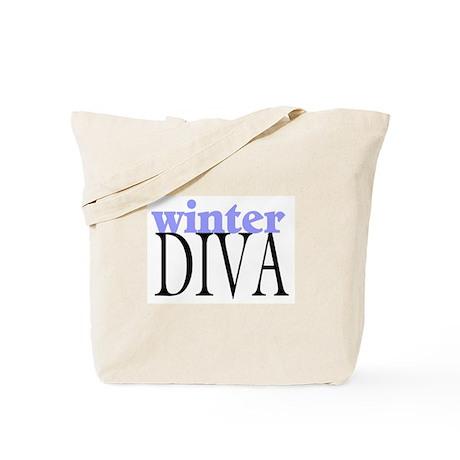 Winter Diva Tote Bag