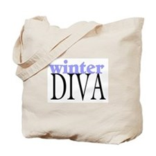 Winter Diva Tote Bag