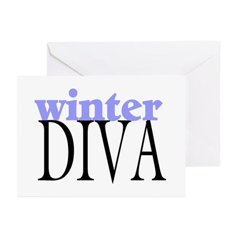 Winter Diva Greeting Cards (Pk of 10)