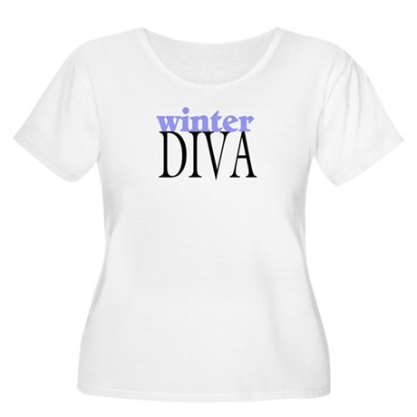 Winter Diva Women's Plus Size Scoop Neck T-Shirt