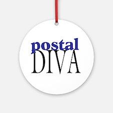 Postal Diva Ornament (Round)