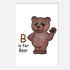 B is for Bear Postcards (Package of 8)