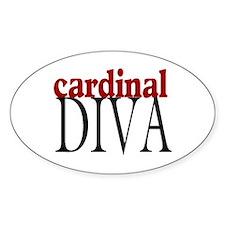 Cardinal Diva Oval Decal
