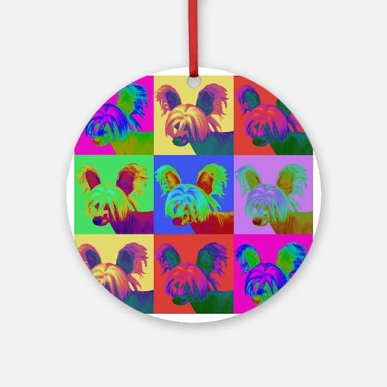 Op Art Crestie Ornament (Round)