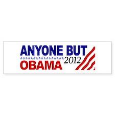 Anyone but Obama 2012 Bumper Bumper Sticker