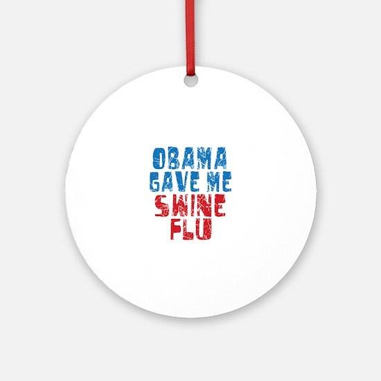 Obama Swine Flu Ornament (Round)