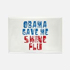 Obama Swine Flu Rectangle Magnet