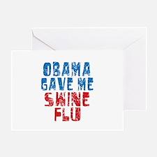 Obama Swine Flu Greeting Card