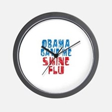 Obama Swine Flu Wall Clock
