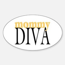 Mommy Diva Oval Decal