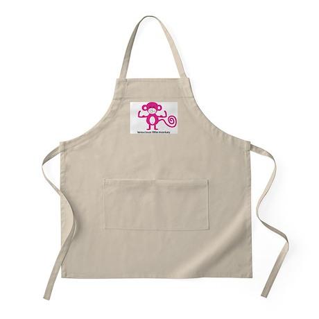 Pink Tenacious Little Monkey BBQ Apron