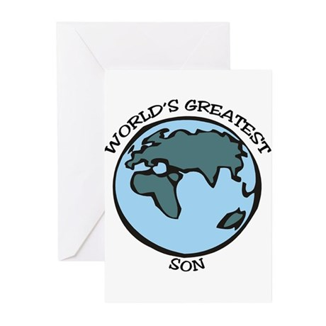Greatest Son Greeting Cards (Pk of 10)
