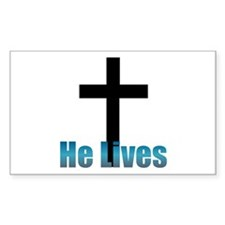 He lives Rectangle Decal