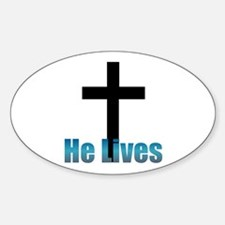 He lives Oval Decal